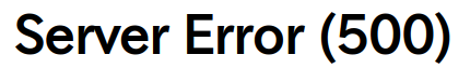 IMAKITAをつかってServer Errorがでてきた